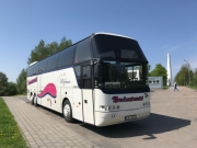 Neoplan 49+1 coach hire in Riga, Latvia