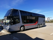 Neoplan double decker 67+1 coach hire in Riga