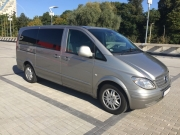 Mercedes Vito Long gold 8+1 minibus hire in Riga